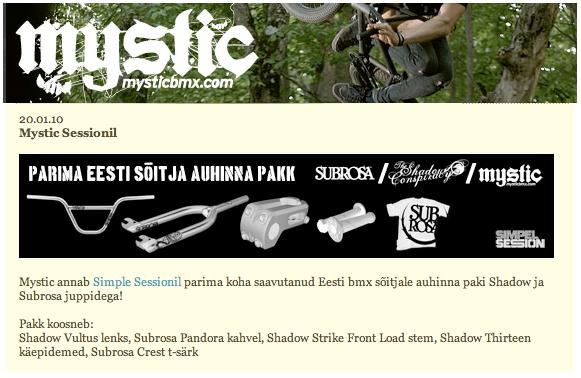 Mystic BMX – January 2010