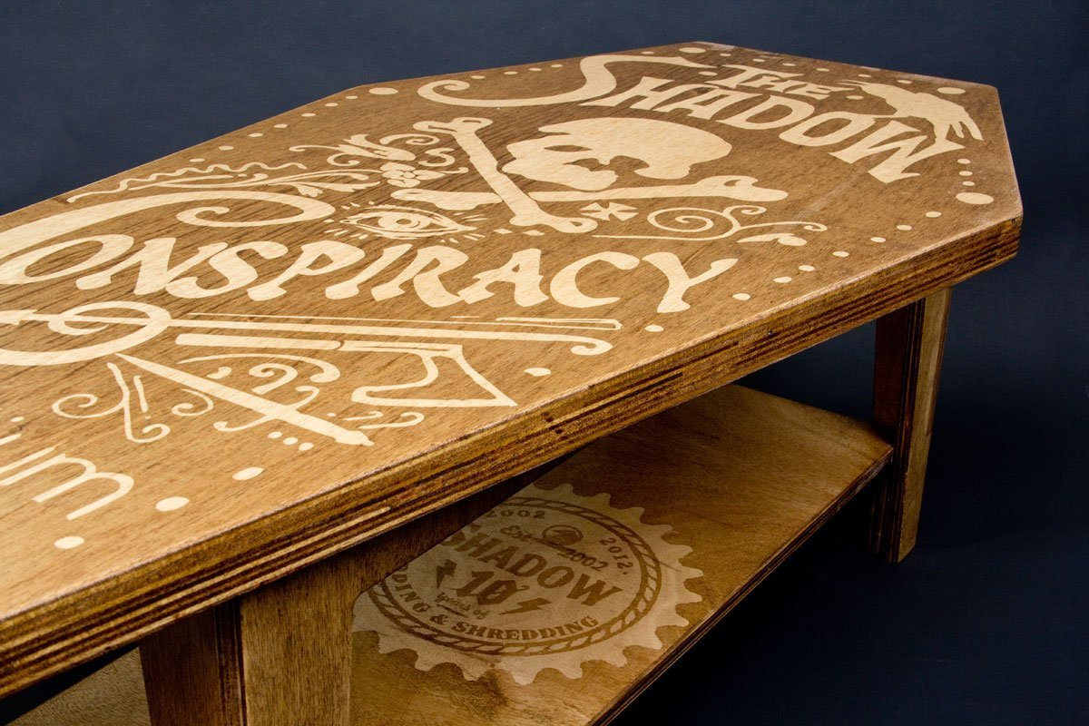Handmade Shadow Coffee Table The Shadow Conspiracy - Coffin coffee table