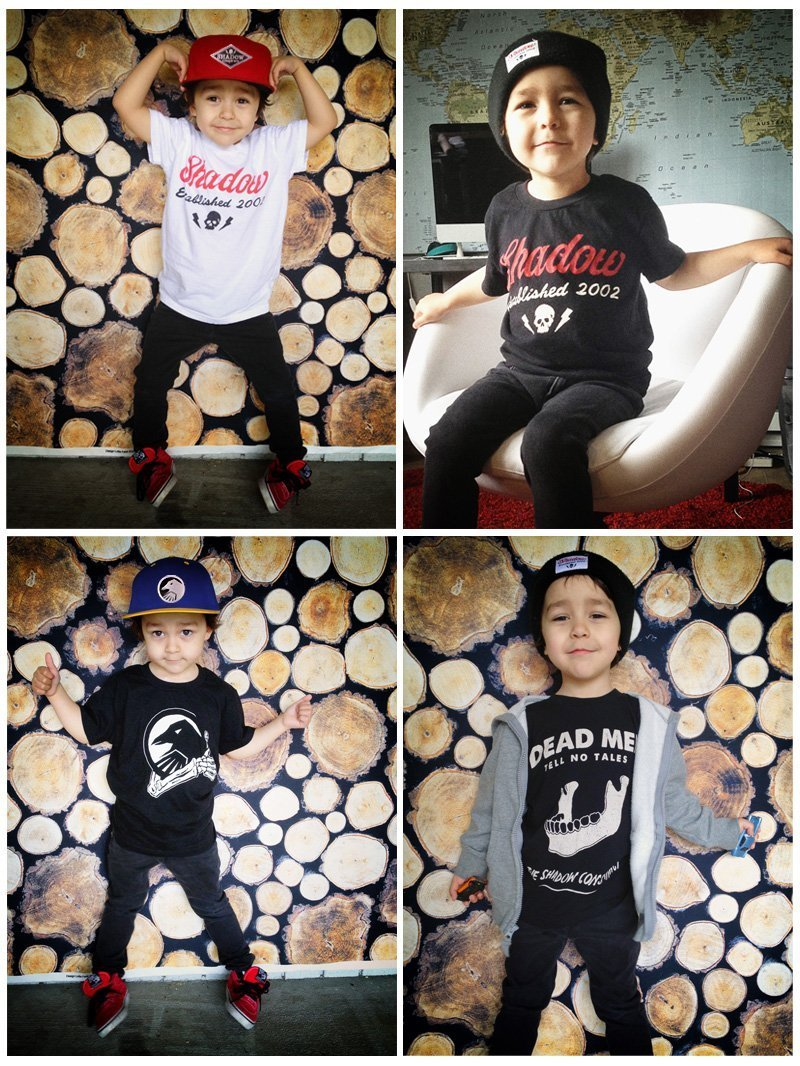 Start Em Young - Shadow Youth Sized T's