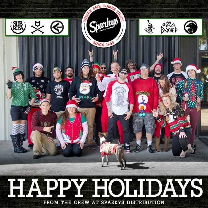 Happy Holidays from the Crew at Sparkys Distribution