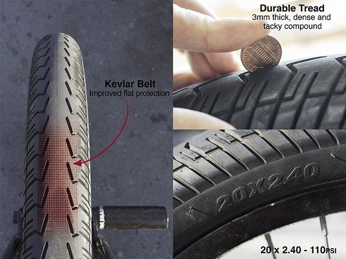 Shadow Conspiracy Valor Tyre Black 20x2.4 BMX PARTS