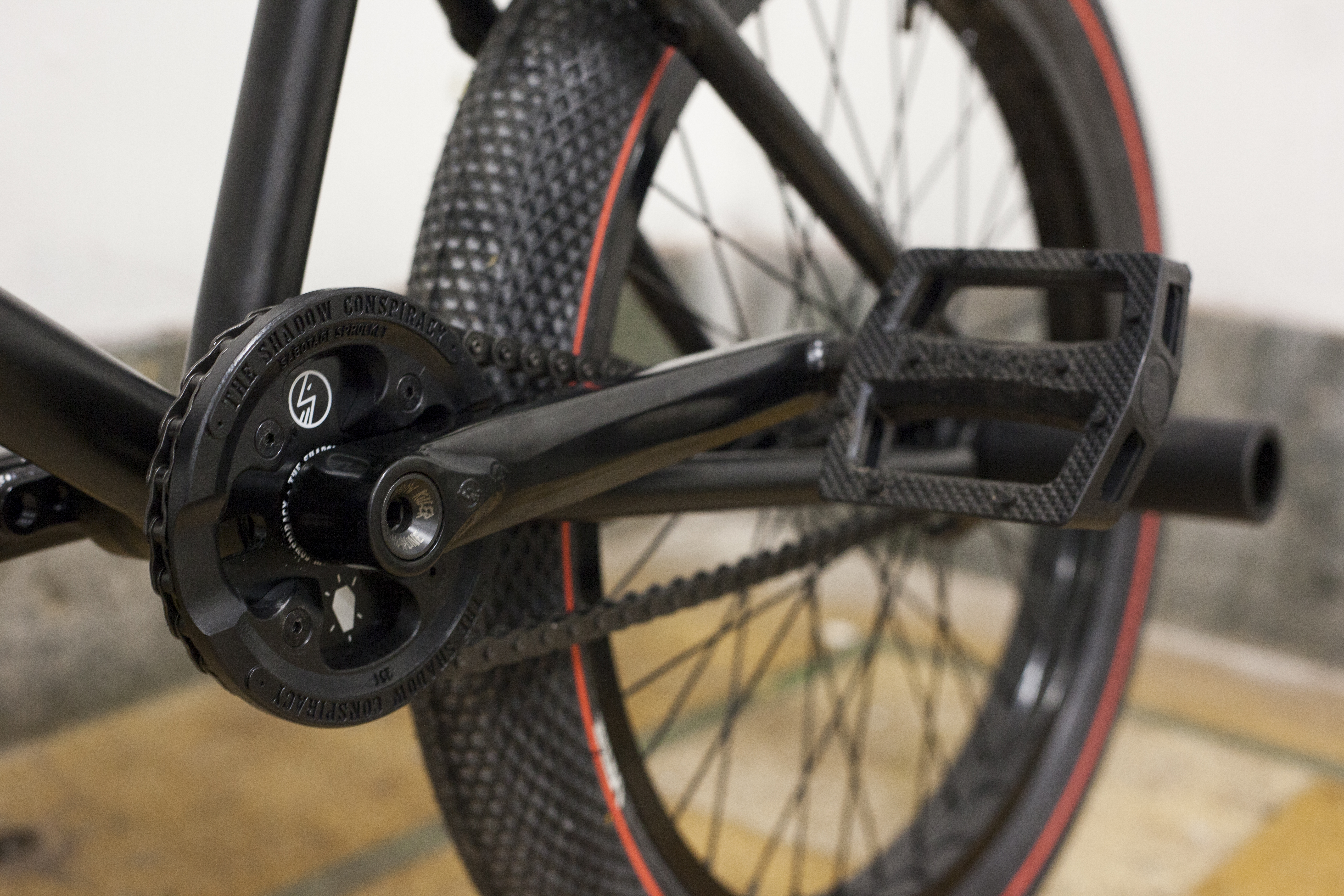 SHADOW CONSPIRACY SABOTAGE REPLACEMENT SPROCKET GUARD 25t BMX BIKE BLACK NEW