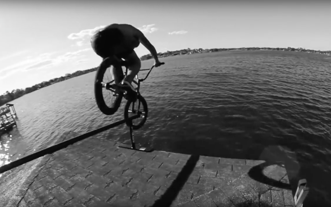 Trey Jones – Rooftop Rail into Water